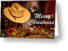 Cowboy Christmas Party - Merry Christmas Greeting Card