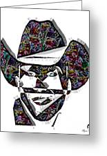 Cowboy Colorful 47 Greeting Card