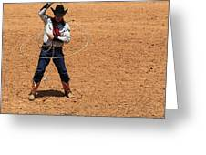 Cowboy Entertainer Greeting Card
