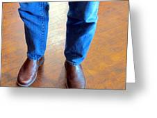 Cowboy Feet Greeting Card