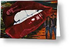 Cowboy Lips Greeting Card