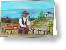 Cowboy On The Farm Greeting Card