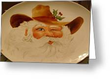 Cowboy Santa Greeting Card