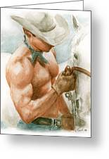 Cowboy Watercolor Greeting Card
