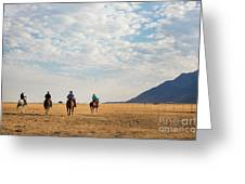 Cowboys On The Open Range Greeting Card