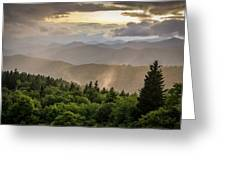 Cowee Mountains Sunset 2 Greeting Card