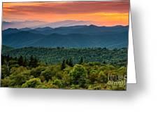 Cowee Sunset. Greeting Card