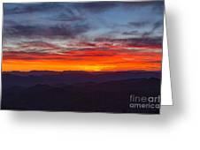 Cowee Sunset Greeting Card