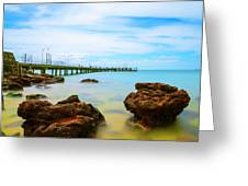 Cowes Pier Greeting Card