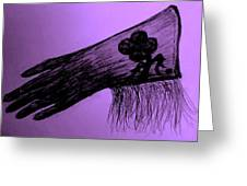 Cowgirl Glove Plum Classy Greeting Card