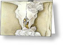Cow's Skull With Calico Roses By Georgia O'keeffe Greeting Card