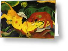 Cows Yellow Red Green 1912 Greeting Card