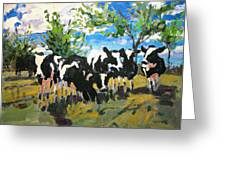 Cowscape Greeting Card