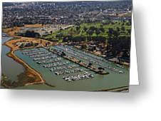 Coyote Point Marina San Francisco Bay Sfo California Greeting Card
