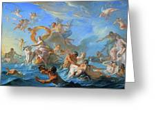 Coypel's The Abduction Of Europa Greeting Card