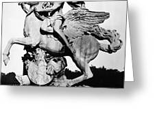 Coysevox: Mercury & Pegasus Greeting Card