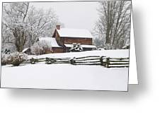 Cozy Snow Cabin Greeting Card
