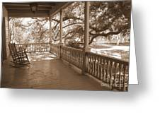 Cozy Southern Porch Greeting Card