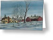 Cozy Winter Night Greeting Card