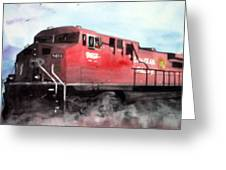 Cp Rocky Mountain Coal Train Greeting Card