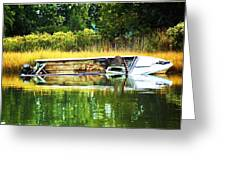 Crab Boat Retired Greeting Card