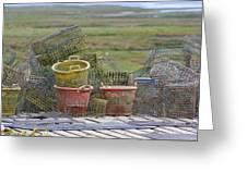Crab Pots And Baskets Greeting Card