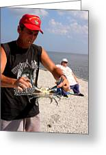 Crabbin For Blues Greeting Card