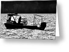Crabbing On The Pamlico Greeting Card