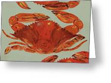 Crabs Tonight Greeting Card