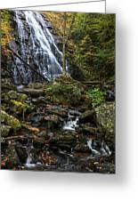 Crabtree Falls In Autumn Greeting Card