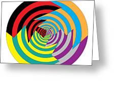 Cracked Circles 2 Greeting Card