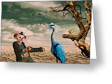 Cracked IIi - The Clown Greeting Card by Chris Armytage