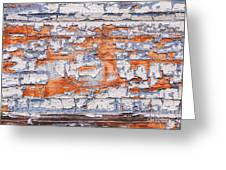 Cracked Wood Paint Greeting Card