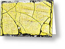 Cracked Yellow Paint Greeting Card