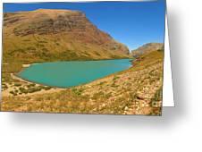 Cracker Lake Many Glacier Panorama Greeting Card