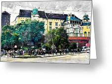 Cracow Art 2 Wawel Greeting Card