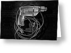 Craftsman Drill Motor Bs Bw Greeting Card