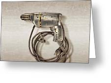 Craftsman Drill Motor Left Side Greeting Card