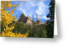 Crags In Fall Greeting Card