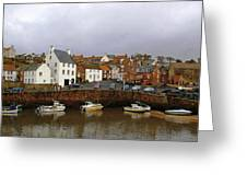 Crail Harbour Fife Greeting Card