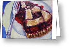 Cranberry Raisen Pie         Greeting Card