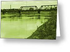 Crane At The River Greeting Card