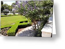 Crane Cottage Garden In Spring Greeting Card