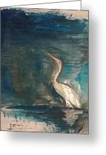 Crane Greeting Card by Gregory Dallum