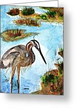 Crane In Florida Swamp Greeting Card
