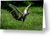 Crane On A Mission Greeting Card