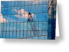 Crane Reflection - Atlantic City Greeting Card
