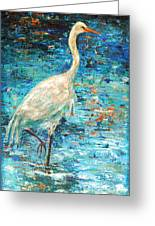 Crane Reflection Greeting Card