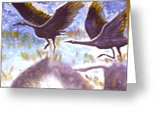 Cranes N Flight Greeting Card