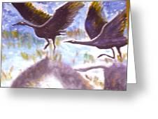 Cranes N Flight Greeting Card